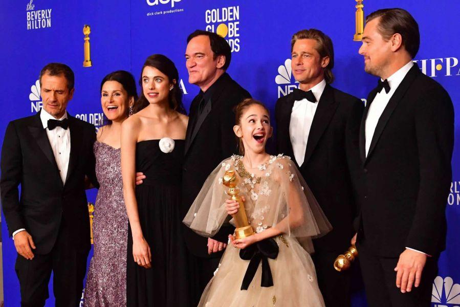 """El elenco principal del filme """"Erase una vez... en Hollywood"""", filme de Quentin Tarantino."""