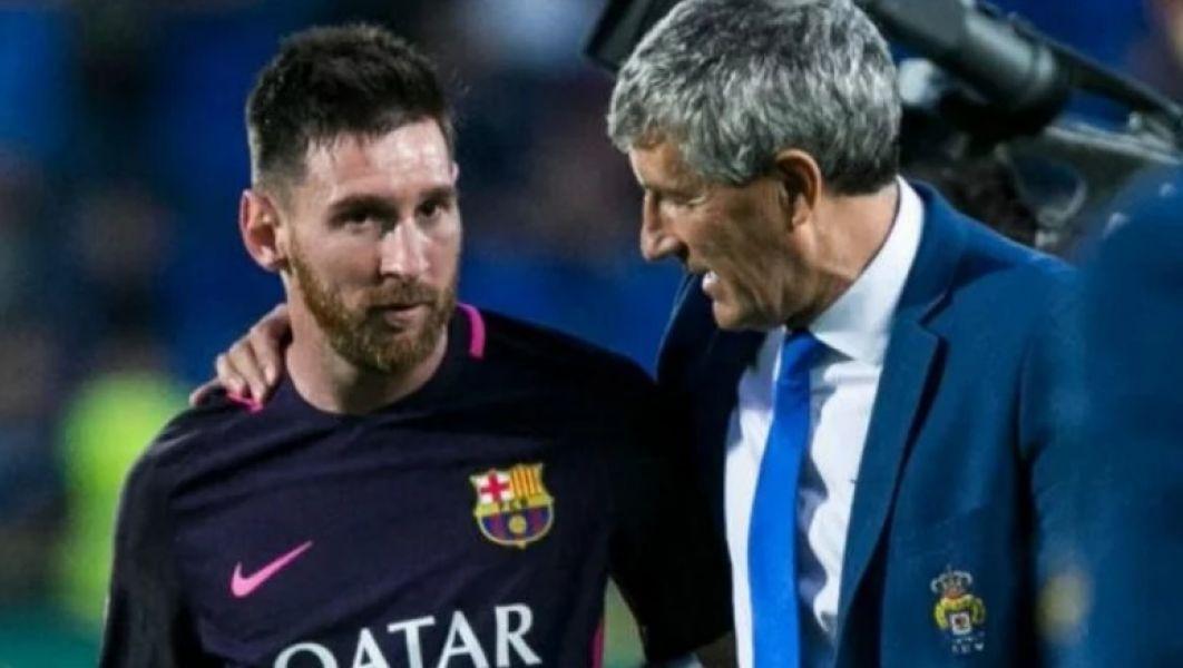 Quique Setién dirigirá a Messi. Cuando lo enfrentó no paró de elogiarlo.