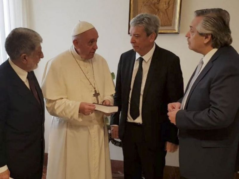 La última visita de Fernández al papa Francisco fue en el año 2018.