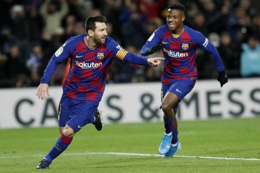 El único gol del partido fue de Leo Messi.