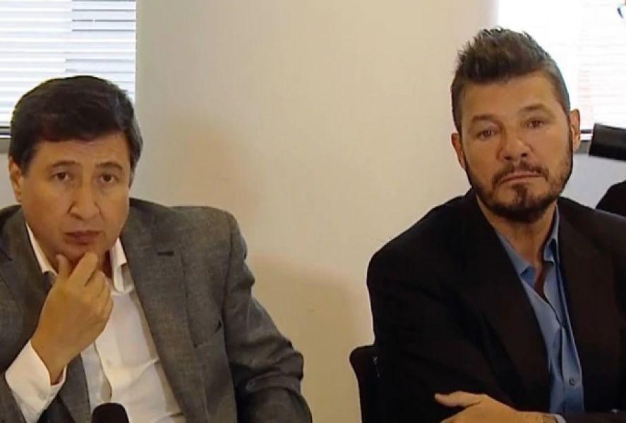 Marcelo Tinelli como integrante de la Mesa Contra el Hambre en Argentina, en una de las reuniones junto al Ministro Arroyo.