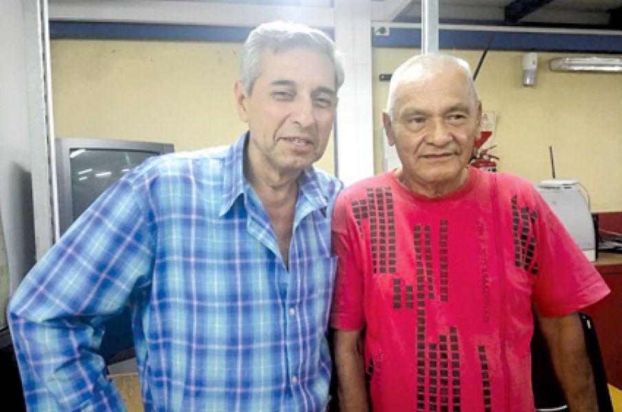 """José María González, alias """"Polilla"""", y Luis Antonio Villalba, primeros dirigentes taxistas de la desaparecida agrupación sindical """"7 de Mayo""""."""