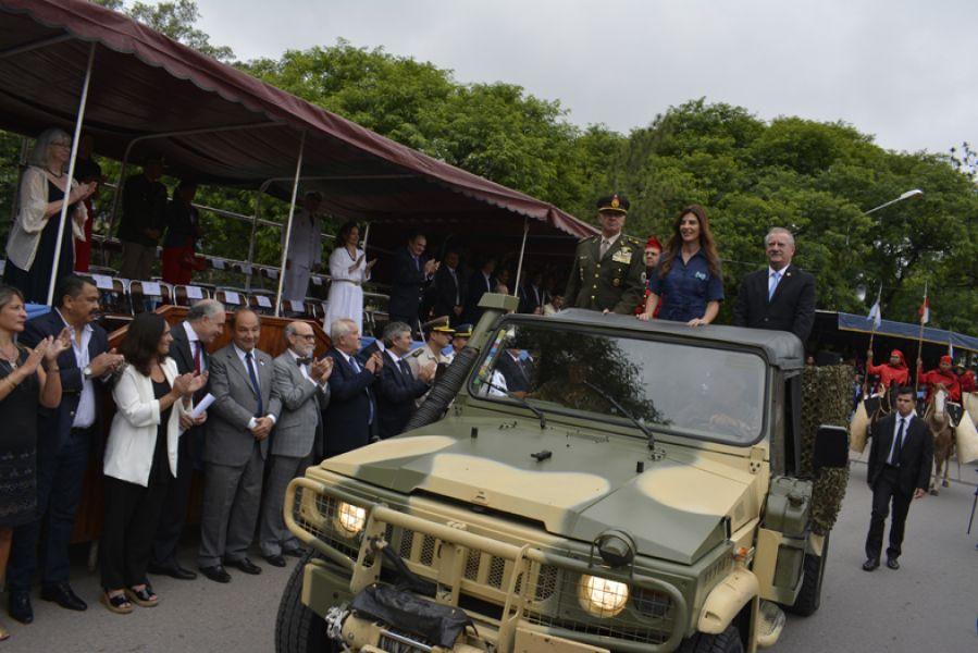 Los actos centrales estuvieron el vicegobernador Antonio Marocco y la intendenta Bettina Romero. El gobernador Gustavo Sáenz estuvo en el Norte.