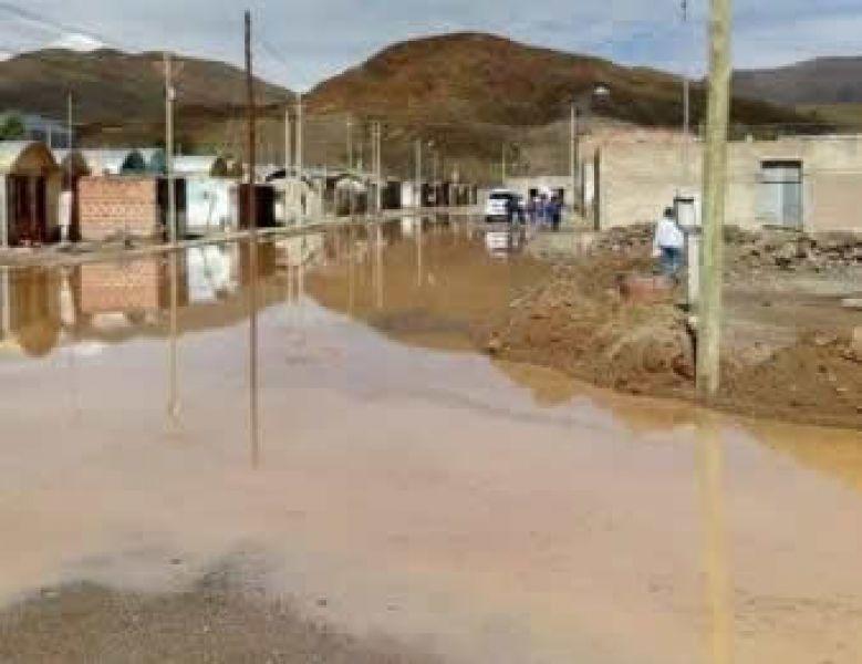 Las inundaciones por la crecida del río San Antonio produjo graves daños en las casas de los habitantes de San Antonio de los Cobres.