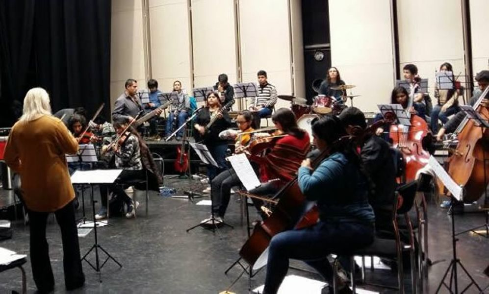 La Camerata Stradivari, dirigida por Inga Iordanishvili cuenta con 55, entre alumnos y docentes.