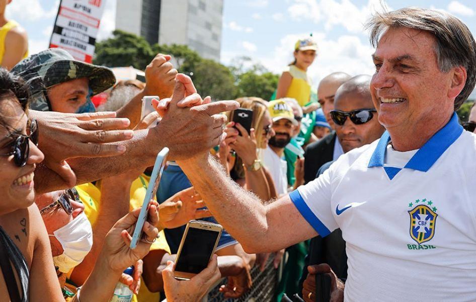 Durante un período de 40 días, Bolsonaro debía permanecer aislado.