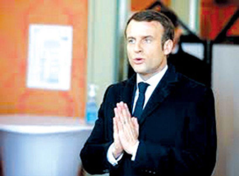 Emmanuel Macron confirmó que el Estado francés ayudará a las empresas que estén en riesgo de quiebra por la pandemia.