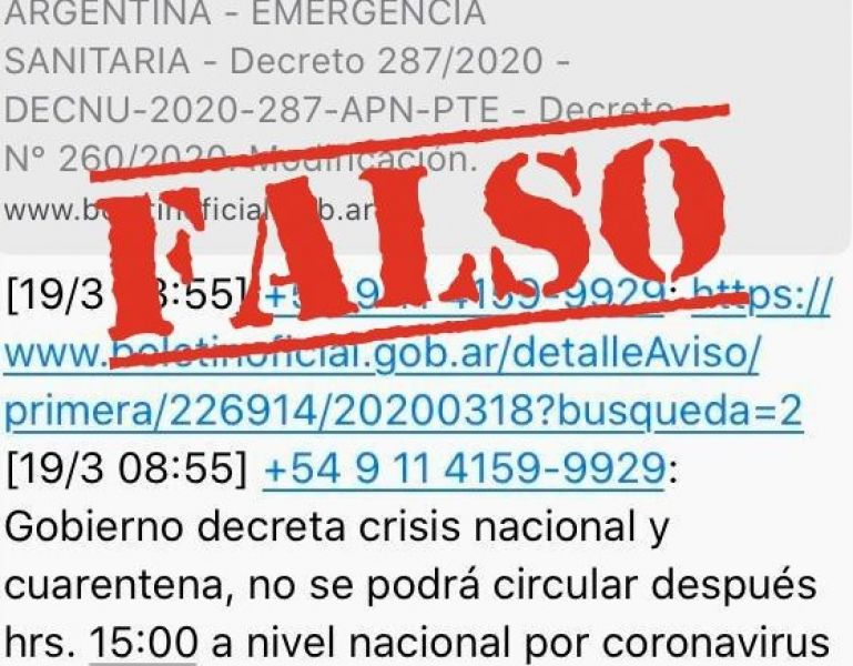 Buscan penalizarán al autor del falso decreto que se viralizó en las redes sociales creado para alarmar a la población.