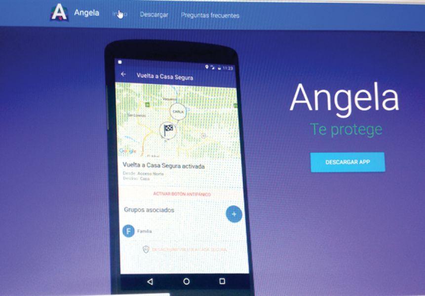 """""""Angela"""" funciona como dispositivo de seguimiento y como botón antipánico."""