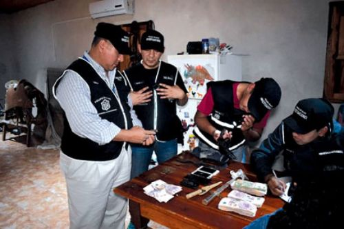 La policía detuvo a nueve personas y secuestró armas a5a095db41c4c